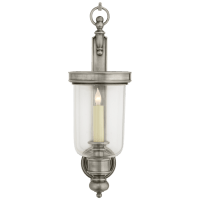 Georgian Small Hurricane Wall Sconce in Antique Nickel