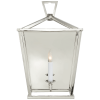 Darlana Wall Lantern in Polished Nickel