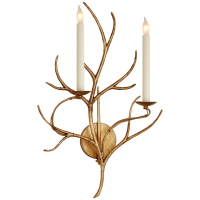 Branch Sconce in Gilded Iron