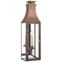 Charlestown Small 3/4 Wall Lantern in Natural Copper with Clear Glass
