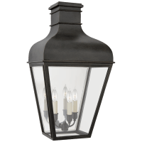 Fremont Medium 3/4 Wall Lantern in French Rust with Clear Glass