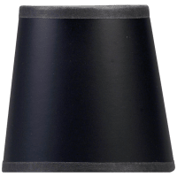 """3"""" x 4"""" x 4"""" Black Paper Candle Clip Shade"""