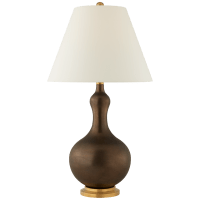 Addison Medium Table Lamp in Matte Bronze with Natural Percale Shade