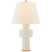 Eerdmans Medium Table Lamp in Sandy White with Linen Shade