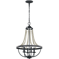 Nori Medium Chandelier Dark Weathered Zinc / Driftwood Grey