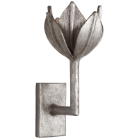 Alberto Small Sconce in Burnished Silver Leaf
