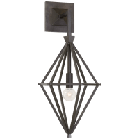 Afton Single Sconce in Aged Iron