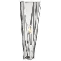 Lorino Medium Sconce in Polished Nickel with Clear Glass
