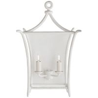 Aria Large Wall Lantern in Plaster White