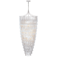Vacarro Tall Cascading Chandelier in Plaster White