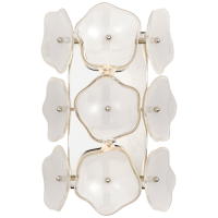 Leighton Small Sconce in Polished Nickel with Cream Tinted Glass