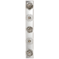 """Keaton 30"""" Floral Vanity Light in Burnished Silver Leaf and Mirror"""