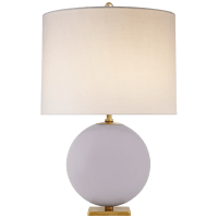 Elsie Table Lamp in Lilac with Linen Shade