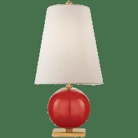Corbin Mini Accent Lamp in Maraschino with Cream Linen Shade