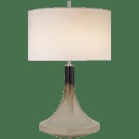 Minola Medium Table Lamp in Cascading Mocha with Linen Shade