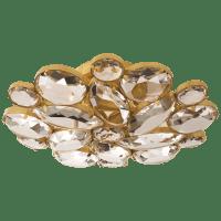 Lloyd Medium Round Flush Mount in Soft Brass with Clear Glass