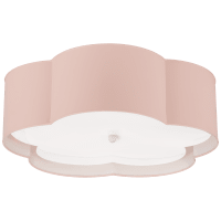 Bryce Large Flower Flush Mount in Pink and White with Frosted Acrylic