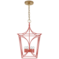 Cavanagh Small Lantern in Coral and Gild