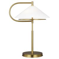 Gesture Table Lamp Burnished Brass Bulbs Inc