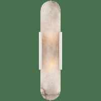 Melange Elongated Sconce in Polished Nickel with Alabaster