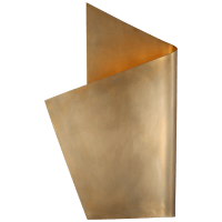 Piel Left Wrapped Sconce in Antique-Burnished Brass
