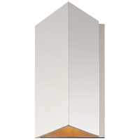 Esker Small Triangle Sconce in Polished Nickel