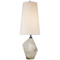 Halcyon Accent Table Lamp in Alabaster with Linen Shade