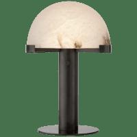 Melange Desk Lamp in Bronze with Alabaster Shade