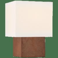 Pari Petite Square Table Lamp in Autumn Copper with Linen Shade