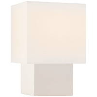 Pari Small Square Table Lamp in Ivory with Linen Shade