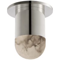 Melange Mini Monopoint Flush Mount in Polished Nickel with Alabaster
