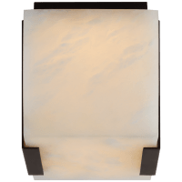 Covet Tall Clip Solitaire Flush Mount in Bronze with Alabaster