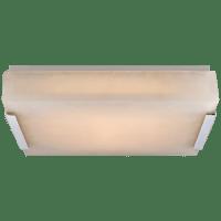Covet Medium Flush Mount in Polished Nickel with Alabaster
