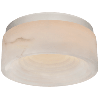 Otto Small Flush Mount in Polished Nickel with Alabaster
