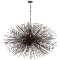 Strada Large Oval Chandelier in Aged Iron