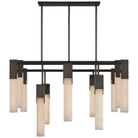 Covet Large Chandelier in Bronze with Alabaster