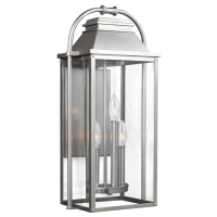 Wellsworth Medium Lantern Painted Brushed Steel
