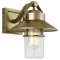 Boynton Small Lantern Painted Distressed Brass