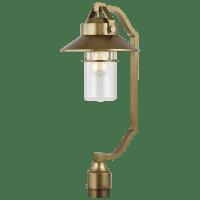 Boynton Large Post Lantern Painted Distressed Brass