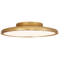 "Dot 13"" Flush Mount in Natural Brass"