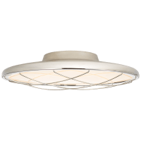 "Dot 16"" Caged Flush Mount in Polished Nickel"