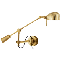 RL '67 Boom Arm Wall Lamp in Natural Brass