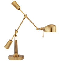 RL '67 Boom Arm Desk Lamp in Natural Brass