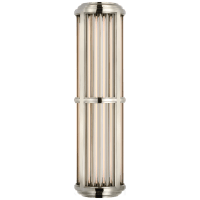 Perren Medium Wall Sconce in Polished Nickel and Glass Rods