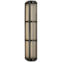 Perren Large Wall Sconce in Bronze and Glass Rods