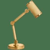 Barrett Mini Desk Lamp in Natural Brass