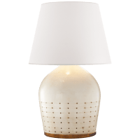 Halifax Small Table Lamp in Coconut with White Paper Shade