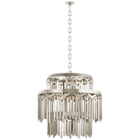 Natalie Large Tiered Chandelier in Polished Nickel