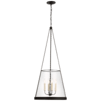 "Reese 18"" Pendant in Bronze with Clear Glass"