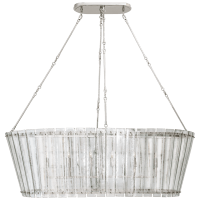 Cadence Grande Linear Chandelier in Polished Nickel with Antique Mirror